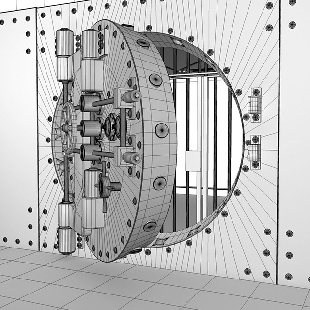 Bank Vault Wireframe