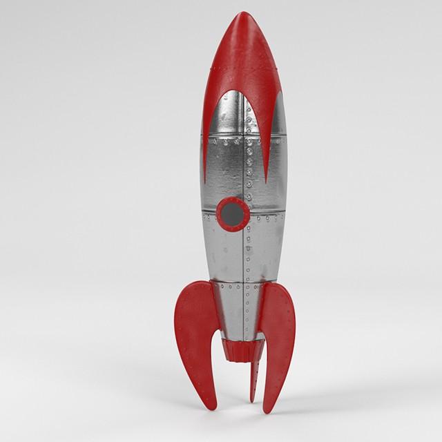 Retro Space Rocket - 3D Landscapes, Plugins & Models for ...