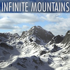 Infinite Mountains landscape generator by C4Depot