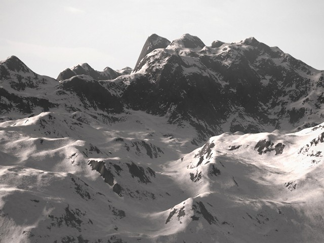 Infinite Mountains rendered using C4Depot's Real Sky studio