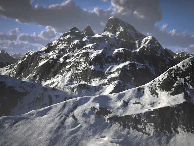 Rendered Using C4Depot's Infinite Mountains & Real Sky Studio.