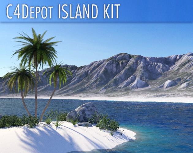 C4Depot Island Kit 3D Island scenery generator for Cinekma