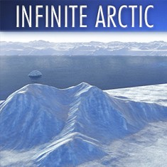 Infinite Arctic 3D landscape generator for Cinema 4D