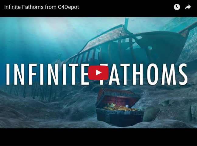 Infinite Fathoms video — 3D underwater shader for Cinema 4D
