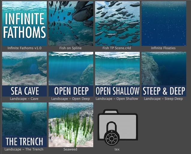 Infinite Fathoms for Cinema 4D presets