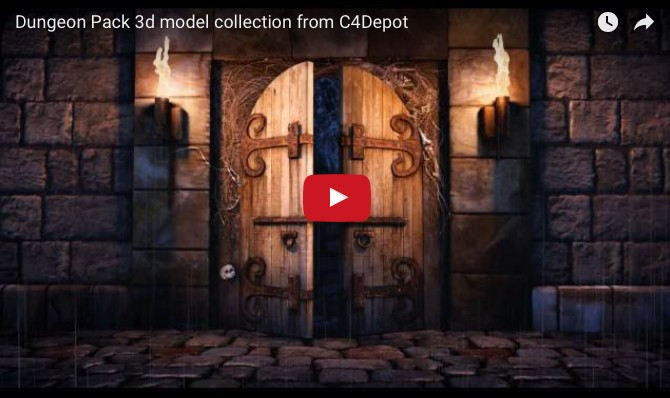C4Depot Dungeon Pack — 3D model collection for Cinema 4D